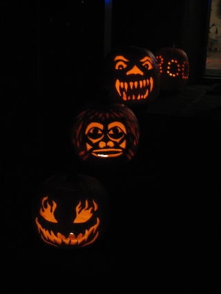 Tim's scary pumpkins