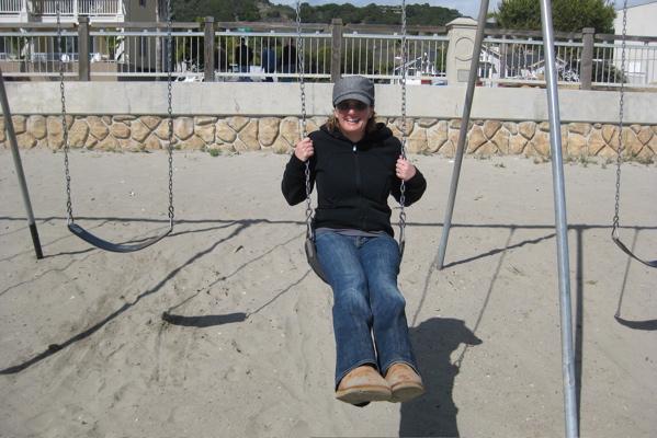 Amy swinging