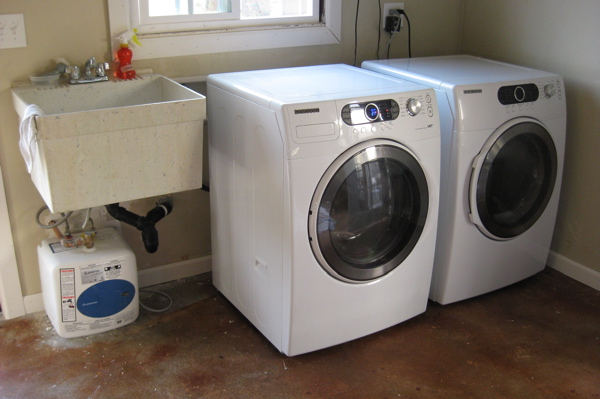 Laundry area after