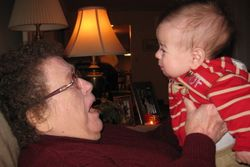 Great grammie and baby sam