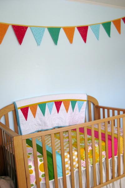 Bunting and crib