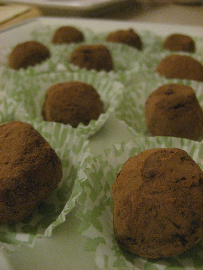 Andy's chocolate truffles
